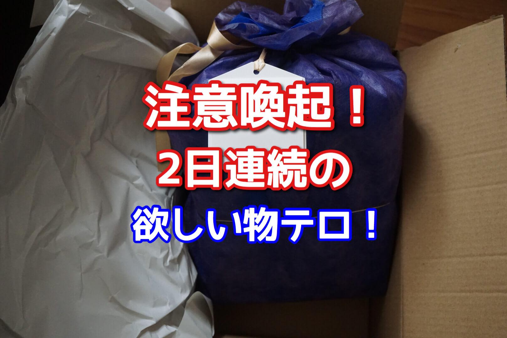 【悲報】2日連続欲しい物テロ勃発!注意喚起!